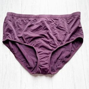 Swimsuits For All Solid Purple High Waist Bottoms